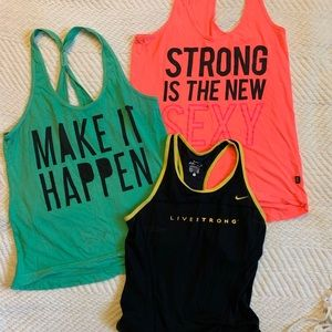Athletic tank bundle Nike and cotton on